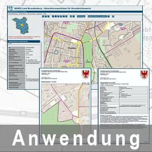 Ansicht BORIS Land Brandenburg und PDF-Auszüge