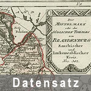 Ausschnitt des Atlasses von Brandenburg 1791