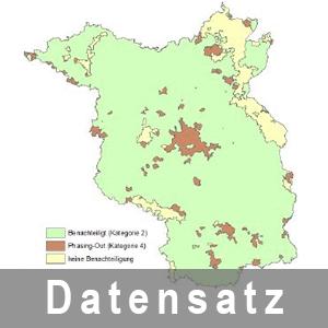 Anzeige der Benachteiligte Gebiete  Land Brandenburg