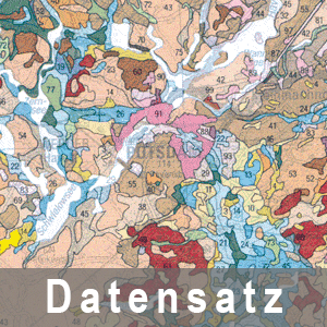 Ausschnitt aus der Bodenübersichtskarte des Landes Brandenburg 1 : 300 000 - Grundkarte Bodengeologie