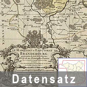Ausschnitt aus der Karte von Brandenburg 1696