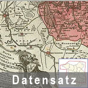 Ausschnitt aus der Karte von Brandenburg 1758