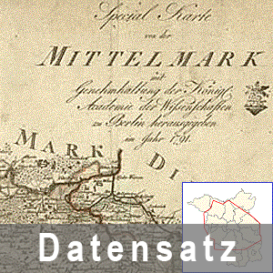 Ausschnitt aus der Karte von Brandenburg 1790