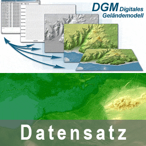 Beispielgrafik einer Nutzung des Digitalen Geländemodells 1 (DGM1)