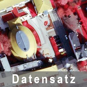 Ausschnitt aus Digitale Color-Orthophotos mit Infrarotkanal (DOP20rgbi) als Farbinfrarotbild (CIR)