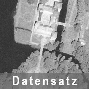 Beispielausschnitt aus einem Digitalen Orthophoto 40 cm grau Brandenburg - DOP40g