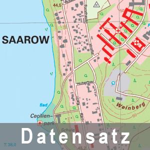 Ausschnitt aus der Digitalen Topographische Karte 1 : 10 000