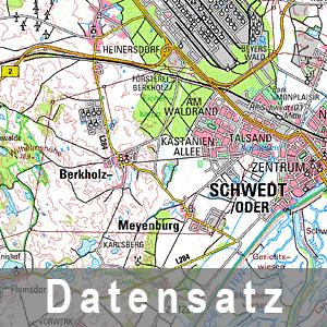 Ausschnitt aus der Digitalen Topographische Karte 1 : 100 000