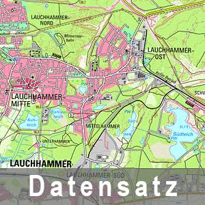 Ausschnitt aus der Digitalen Topographische Karte 1 : 50 000