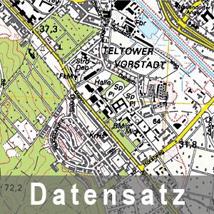Ausschnitt aud der Topographischen Stadtkarte - Vorläufige Ausgabe
