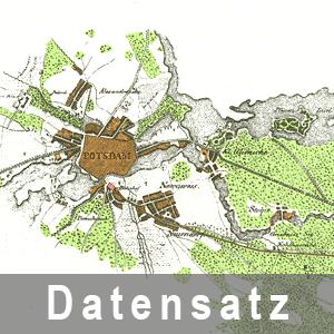 Ausschnitt aus der Karte von der Eisenbahn zwischen Potsdam und Berlin, 1838