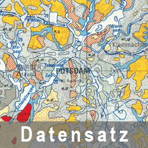 Ausschnitt aus der Geologischen Übersichtskarte des Landes Brandenburg 1 : 300 000