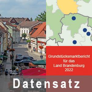 Ansicht des Deckblatts Grundstücksmarktbericht des Landes Brandenburg - aktuelles Jahr