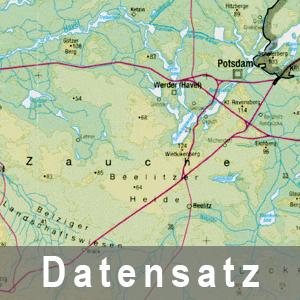 Ausschnitt aus der Höhenschichtenkarte des Landes Brandenburg 1 : 500 000