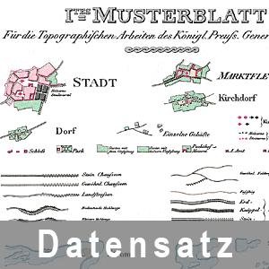 Ausschnitt aus den Musterblättern für topographische Arbeiten des Königlich Preußischen Generalstabs