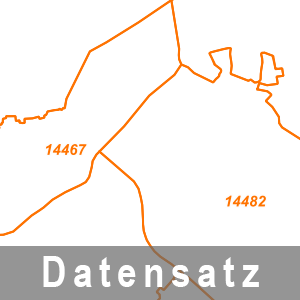Ausschnitt aus dem Datenbestand Postleitzahlen
