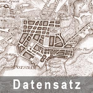 Ausschnitt aus dem Plan von der Insel (Potsdam) und deren Stadtgebiet