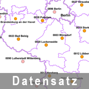 Graphik  über den Standort der Referenzstationen