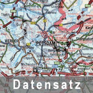 Ausschnitt aus der Straßenbauverwaltungskarte