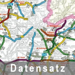 Ausschnitt aus der Verkehrsstärkenkarte