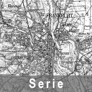 Beispielausschnitt aus einer Karten des Deutschen Reiches 1 : 100 000 - Normalausgabe