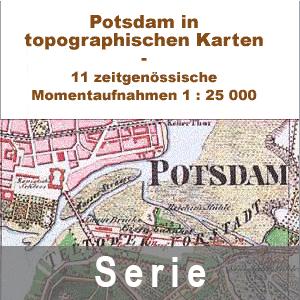 Plakat zu Historischen Karten - Raum Potsdam