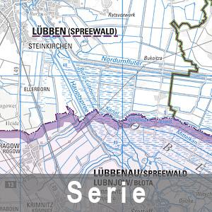 Beispielausschnitt aus einer Regionalkarte 1 : 100 000 Ausgabe mit Verwaltungsgrenzen