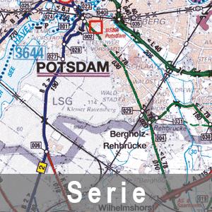 Beispielausschnitt aus der Straßenkarte Potsdam