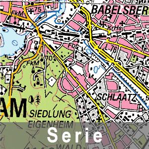 Beispielausschnitt aus der Topographische Karte 1 : 100 000