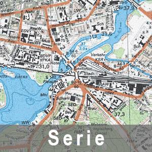 Beispielausschnitt aus der Topographischen Karte 1 : 25 000 - Ausgabe Staat