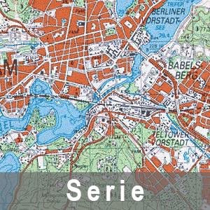 Beispielausschnitt aus der Topographischen Karte 1 : 50 000 - Ausgabe Staat