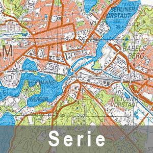 Beispielausschnitt aus der Topographischen Karte 1 : 50 000 - Ausgabe Volkswirtschaft