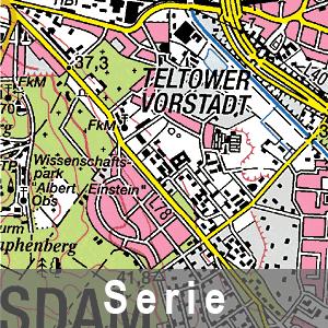 Beispielausschnitt aus der Topographische Karte 1 : 50 000