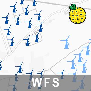Windkraftanlagen in Brandenburg INSPIRE Download-Service (WFS-LFU-WKA)