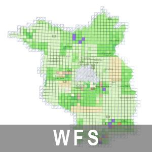 Aktualitätsübersichten der LGB-Produkte Brandenburg (WFS)