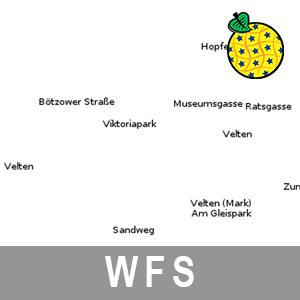 Geografische Bezeichnungen ATKIS Digitales Basislandschaftsmodell Brandenburg (INSPIRE-WFS)