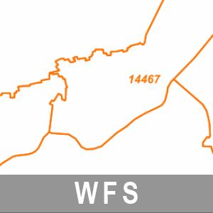 Postleitzahlenbereiche Brandenburg mit Berlin (WFS)