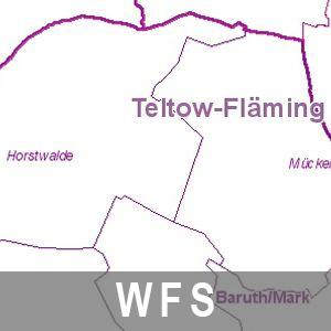 Verwaltungsgrenzen Brandenburg mit Berlin (WFS)