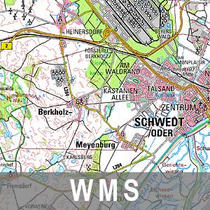 Digitale Topographische Karte 1 : 100 000 Ebenen Brandenburg mit Berlin (WMS)