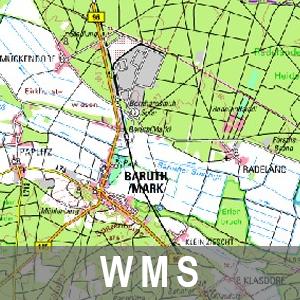 Digitale Topographische Karte 1 : 100 000 Farbe Cache Brandenburg mit Berlin (WMS)