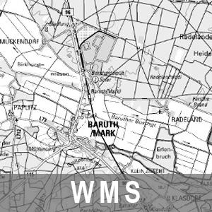 Digitale Topographische Karte 1 : 100 000 Grau Cache Brandenburg mit Berlin (WMS)