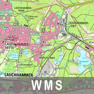 Digitale Topographische Karte 1 : 50 000 Ebenen Brandenburg mit Berlin (WMS)