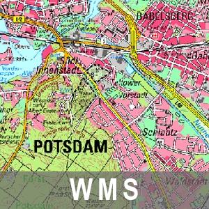 Digitale Topographische Karte 1 : 50 000 Farbe Cache Brandenburg mit Berlin (WMS)