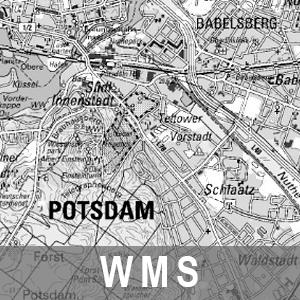 Digitale Topographische Karte 1 : 50 000 Grau Cache Brandenburg mit Berlin (WMS)