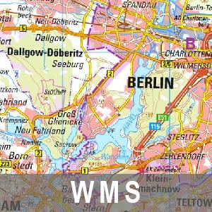 Digitale Topographische Landeskarte 1 : 250 000 Cache Brandenburg mit Berlin (WMS)