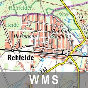 Digitale Topographische Regionalkarte 1 : 100 000 Cache Brandenburg mit Berlin (WMS)
