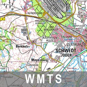 Digitale Topographische Karte 1 : 100 000 Farbe Brandenburg mit Berlin (WMTS)