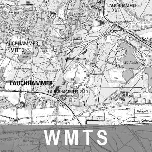 Digitale Topographische Karte 1 : 50 000 Grau Brandenburg mit Berlin (WMTS)