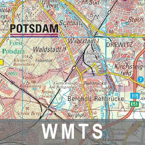 Digitale Topographische Regionalkarte 1 : 100 000 Brandenburg mit Berlin (WMTS)